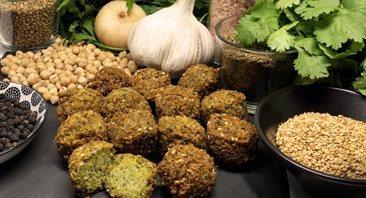 Le Falafel bio par l'Emporte Chef, <br />à emporter et à partager.